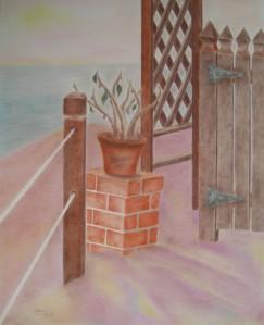 Cherie Fine Art Studio,Encinitas Retreat Solitude, pastel drawing