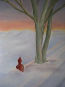 Winter Solstice Buddha, Oil on linen, Cherie Fine Art Studio
