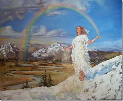 Rainbow-Woman - artist, elaineevansartist.com